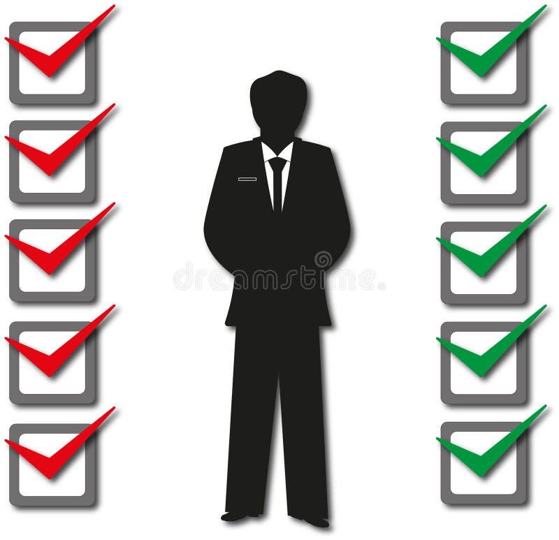 L'indagine exam opzioni Il voto illustrazione di stock