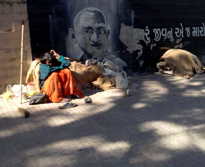 L'Inde de Gandhi photographie stock libre de droits