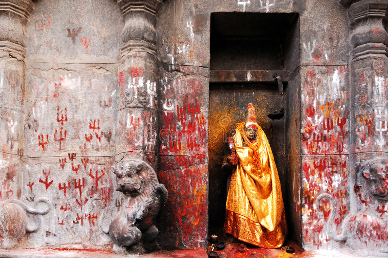 l'Inde Sud-Inde : Temple de Madurai Sri Meenakshi photographie stock