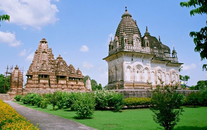 l'Inde, temples dans Khajuraho. photos stock