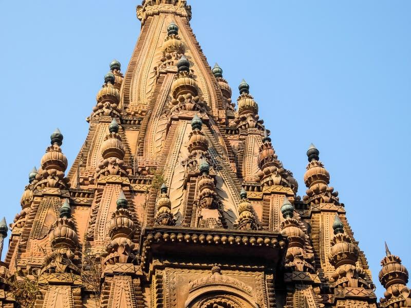 l'Inde Varanasi Architecture de temple antique à Varanasi, Inde photos stock