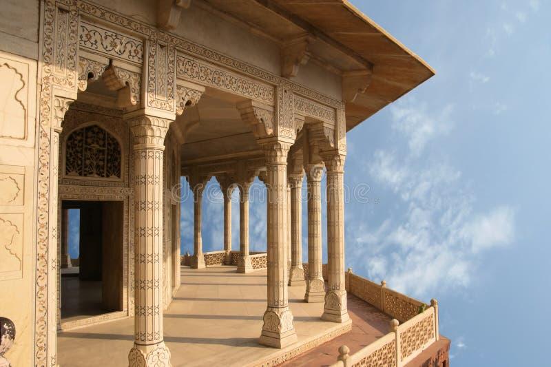 L'India, Agra, fortificazione rossa (patrimonio mondiale dell'Unesco) immagine stock libera da diritti