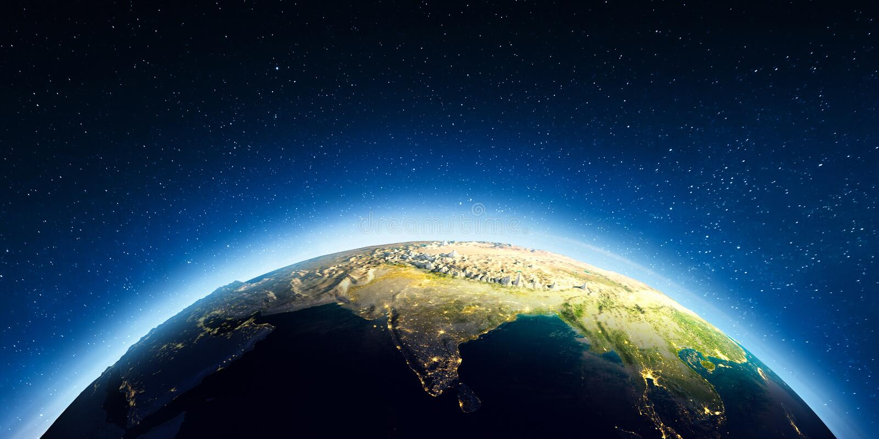 L'India da spazio illustrazione vettoriale