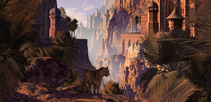 L'India e la tigre illustrazione di stock