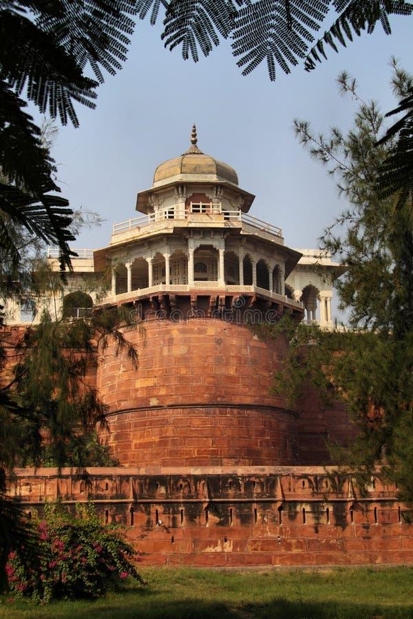 L'India: Fortificazione di colore rosso di Agra fotografie stock