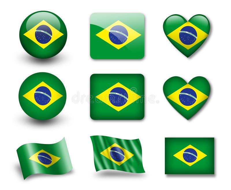 L'indicateur brésilien illustration de vecteur