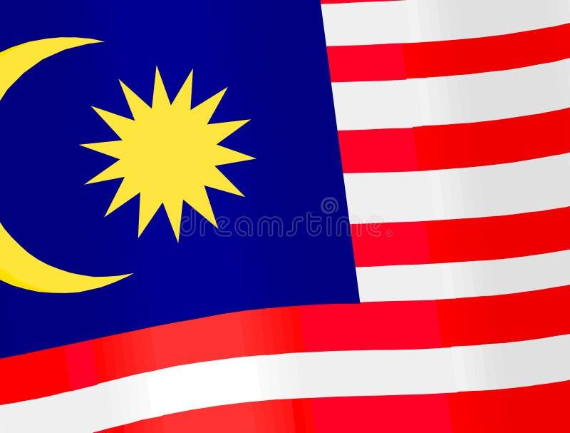 L'indicateur de la Malaisie photographie stock libre de droits