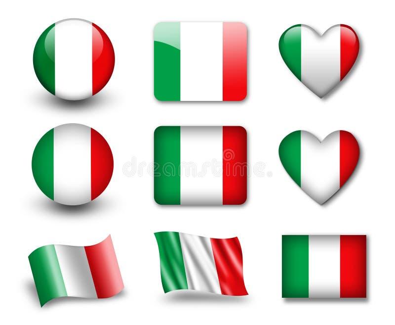 L'indicateur italien illustration stock