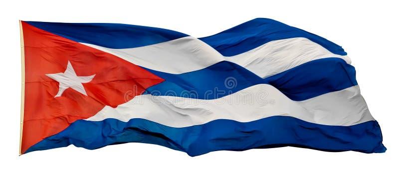 L'indicateur national cubain d'isolement sur le blanc image stock