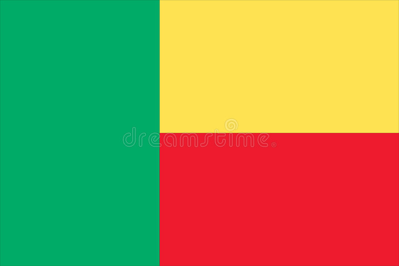 l'indicateur national du Bénin illustration stock