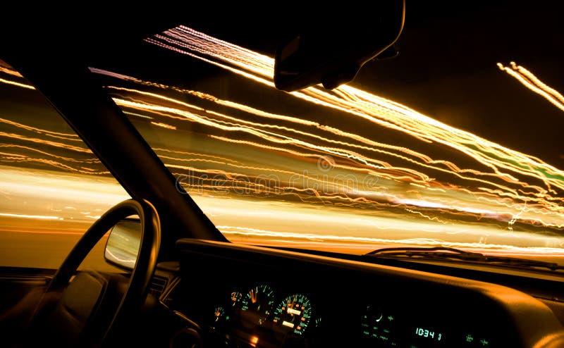 L'indicatore luminoso dell'automobile strascica 1 - driver immagine stock libera da diritti