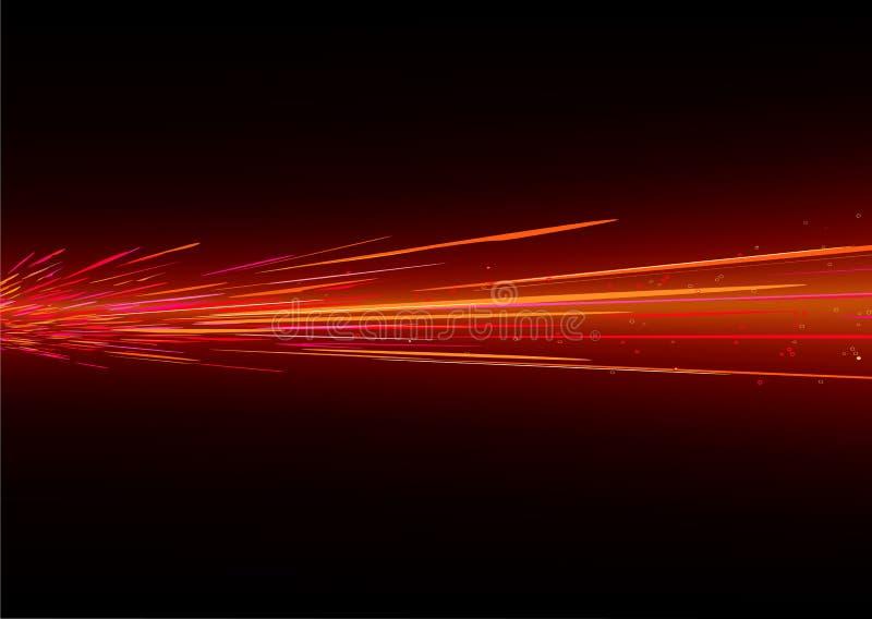 L'indicatore luminoso spruzza illustrazione vettoriale
