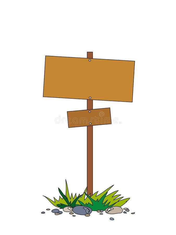 L'indice analitico di legno su una colonna immagine stock