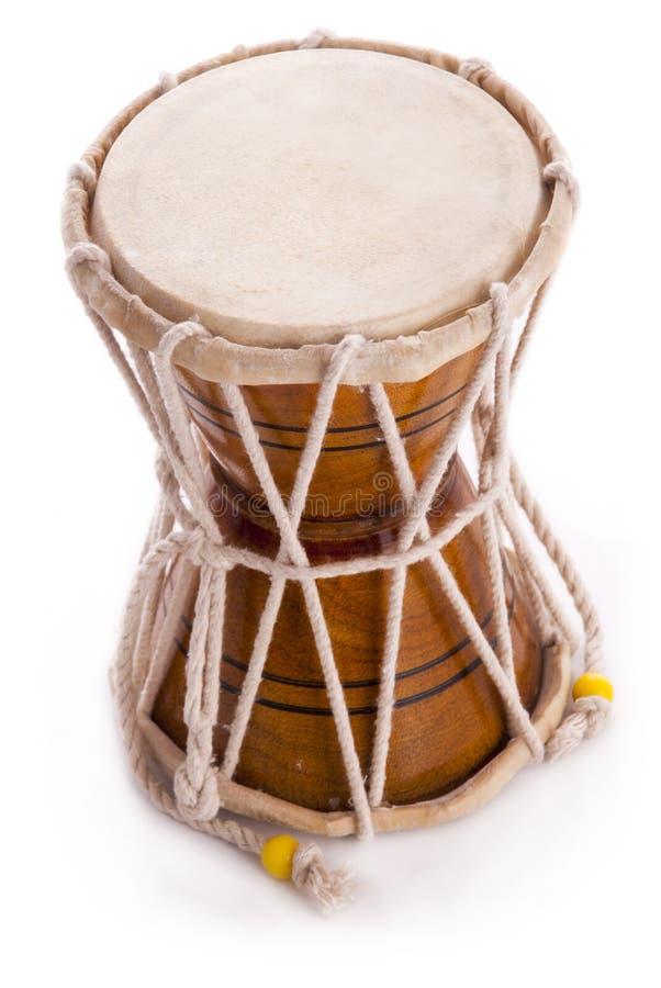 L'Indien bat du tambour du damaru image stock