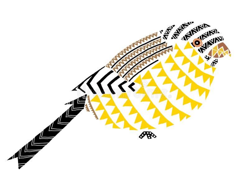 l'indigène d'oiseau modèle l'art illustration stock