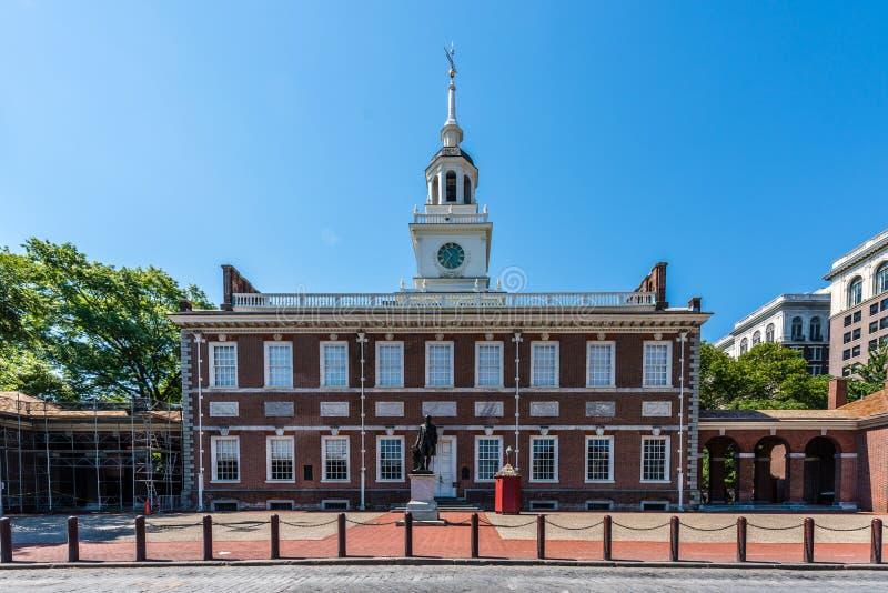 L'indipendenza storica Corridoio di Filadelfia e centro commerciale immagine stock libera da diritti