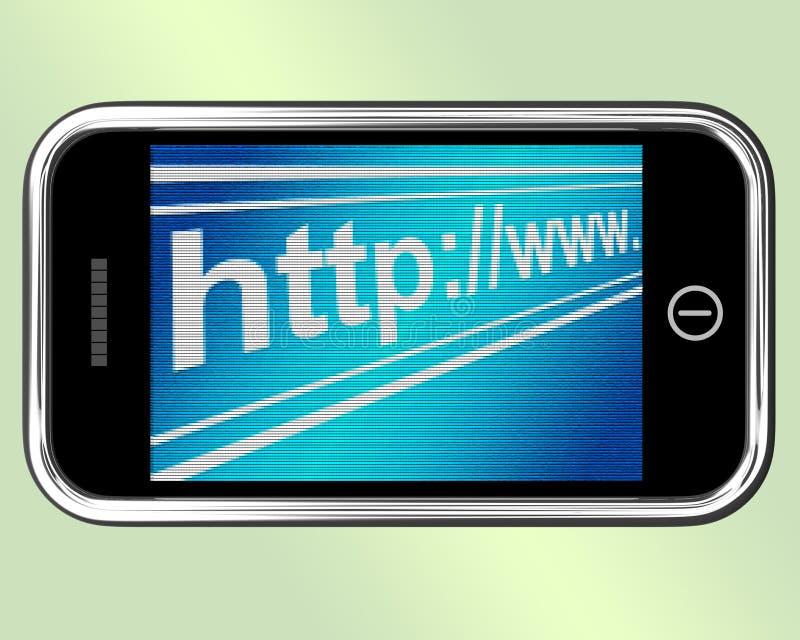 L'indirizzo del HTTP mostra i siti Web o Internet online illustrazione vettoriale