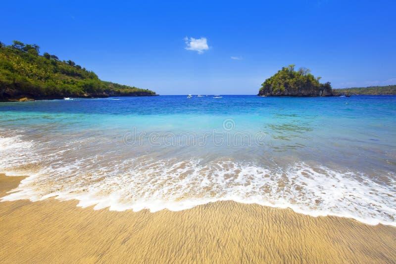 l'Indonésie. Bali. Île dans l'océan image stock