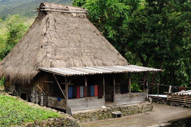 l'Indonésie, Flores, village de Bena photographie stock