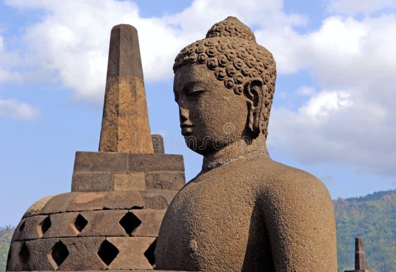 l'Indonésie, Java, Borobudur : Temple image stock