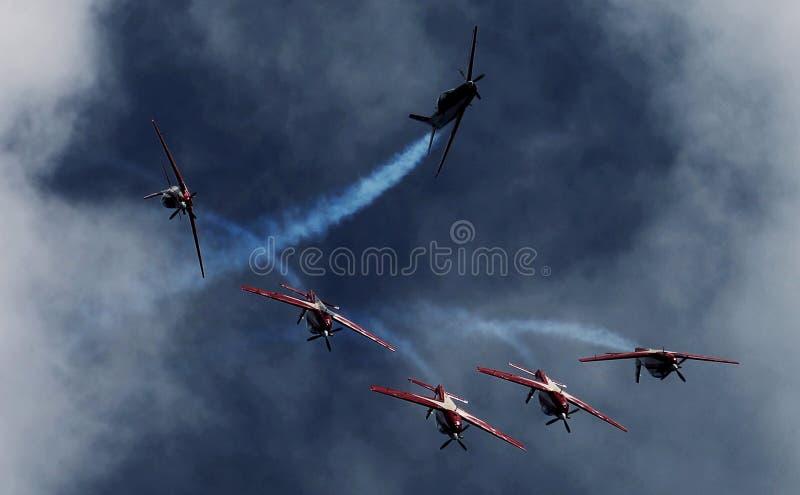 L'Indonésie Team Jupiter acrobatique aérien photos libres de droits