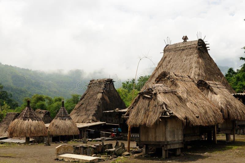 l'Indon?sie, Flores, village de Bena photo libre de droits