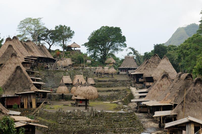 l'Indon?sie, Flores, village de Bena image stock