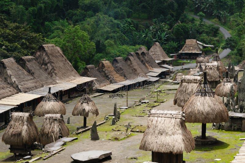 L'Indonesia, Flores, villaggio di Bena fotografia stock