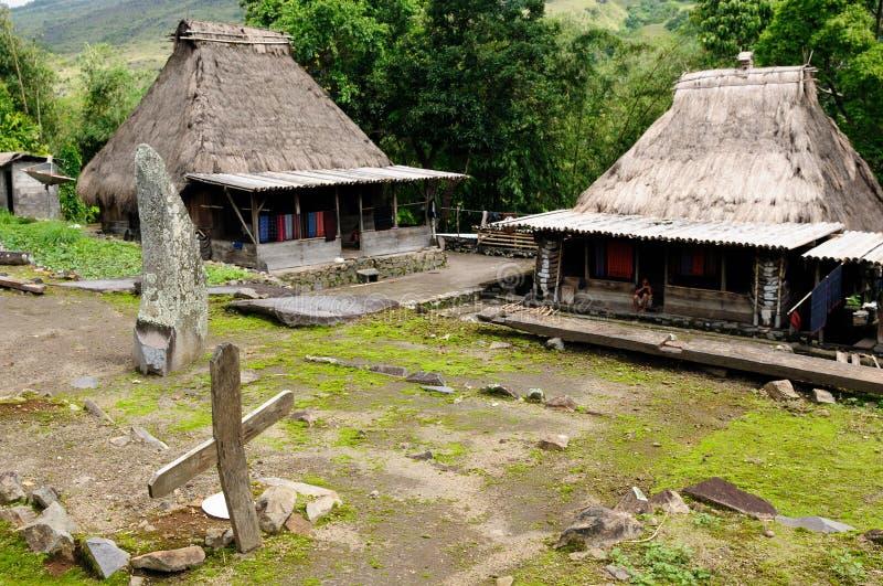 L'Indonesia, Flores, villaggio di Bena fotografie stock libere da diritti