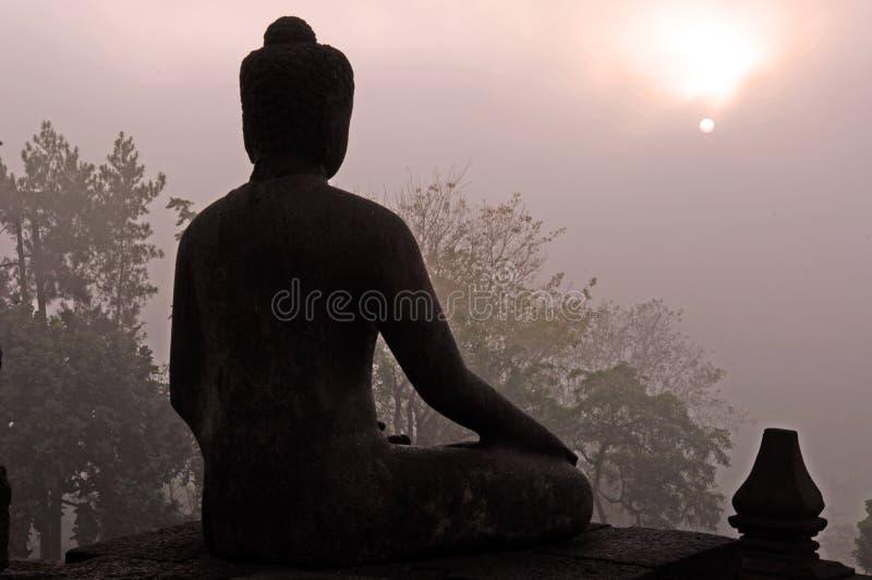 L'Indonesia, Java, Borobudur fotografia stock libera da diritti