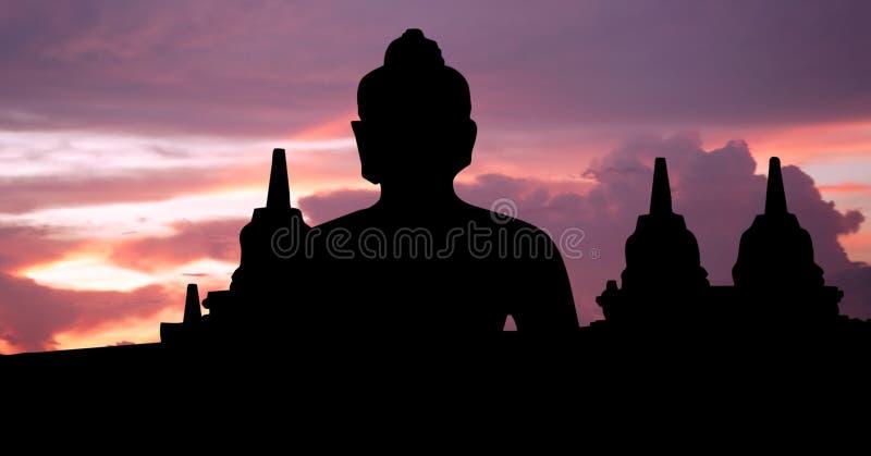 L'Indonesia, Java, Borobudur fotografie stock