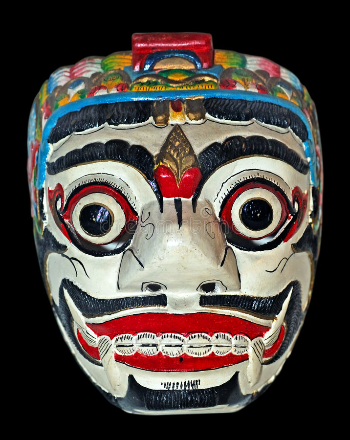 L'Indonesia, Java: mascherina immagine stock