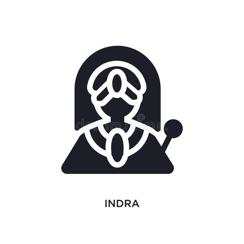 l'INDRA a isolé l'icône illustration simple d'élément des icônes de concept de l'Inde conception editable de symbole de signe de  illustration libre de droits