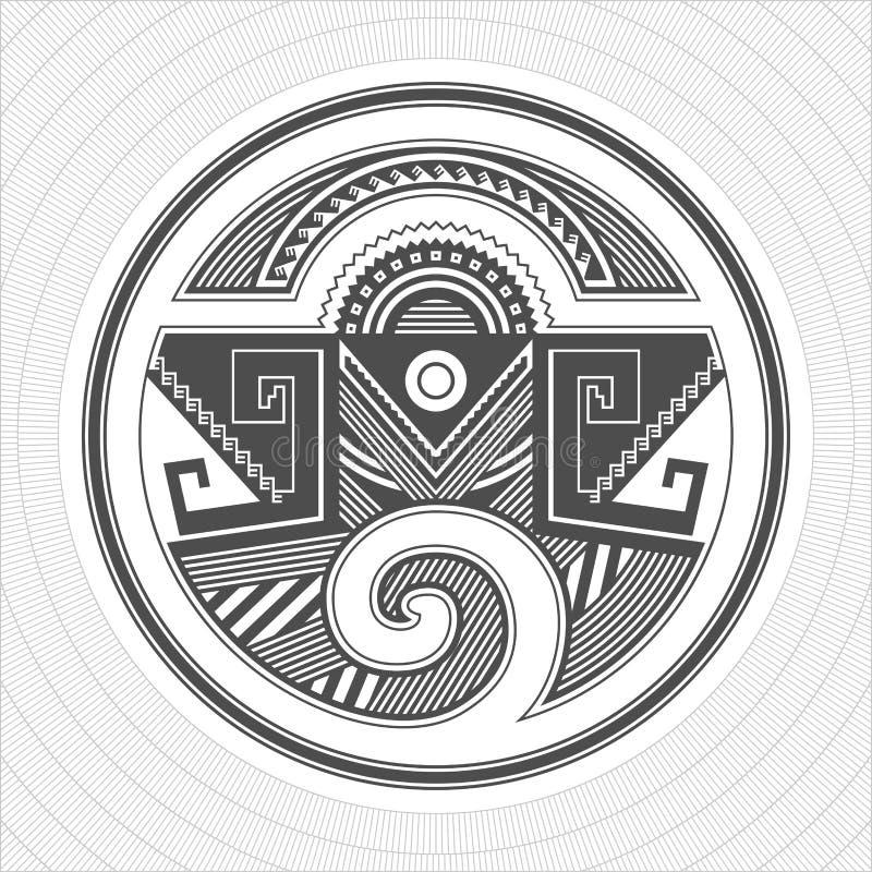 L'industrie graphique d'Indiens de pueblo de l'Amérique du Nord Tatouage et copie illustration stock