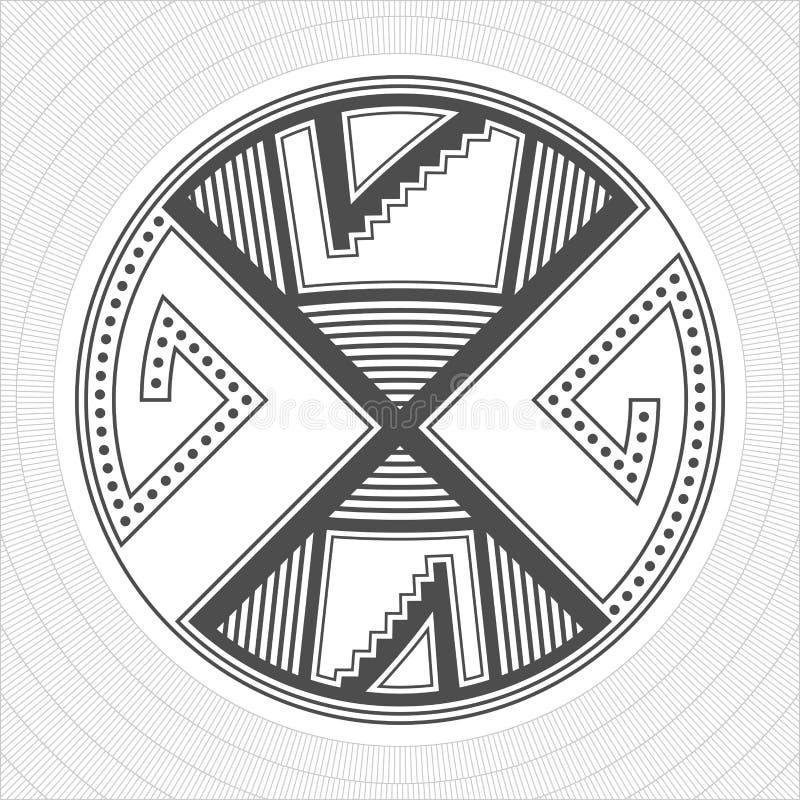 L'industrie graphique d'Indiens de pueblo de l'Amérique du Nord Tatouage et copie illustration de vecteur