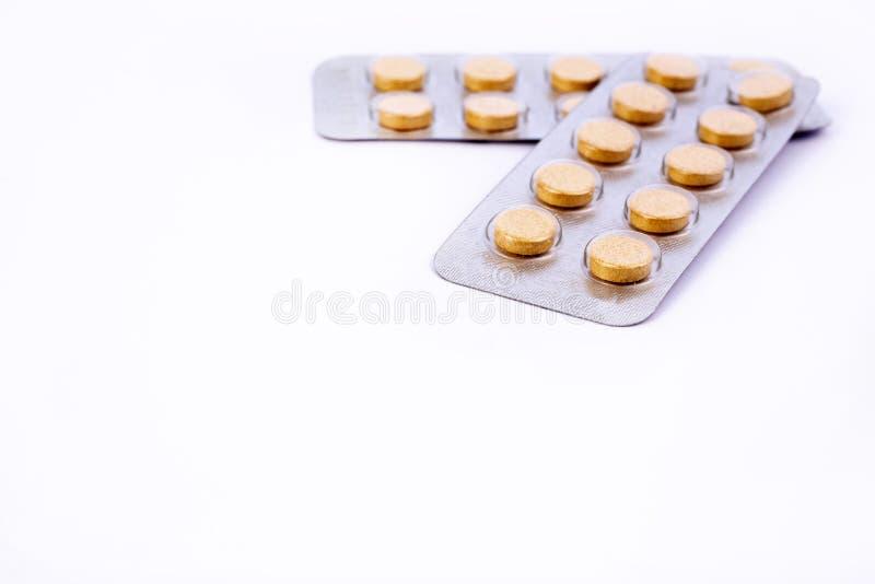 L'industrie pharmaceutique dope des vitamines de pilules photographie stock