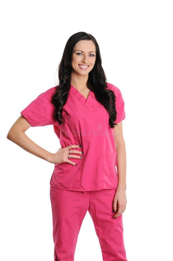 L'infermiera dentro frega fotografia stock libera da diritti