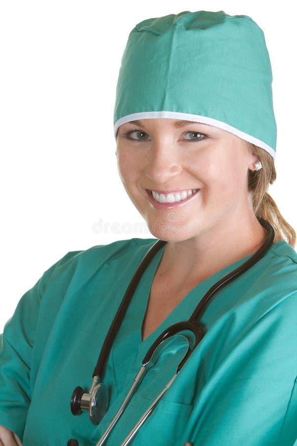 L'infermiera dentro frega fotografie stock libere da diritti