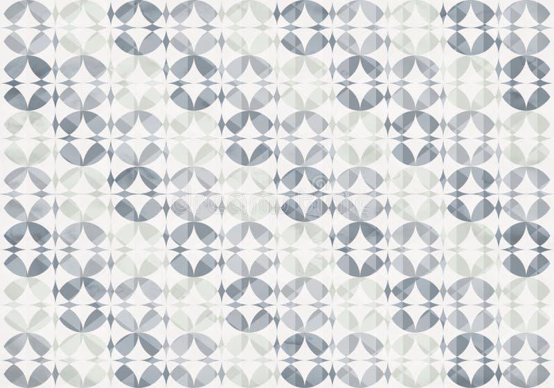 L'infini argenté entoure le modèle sans couture illustration stock
