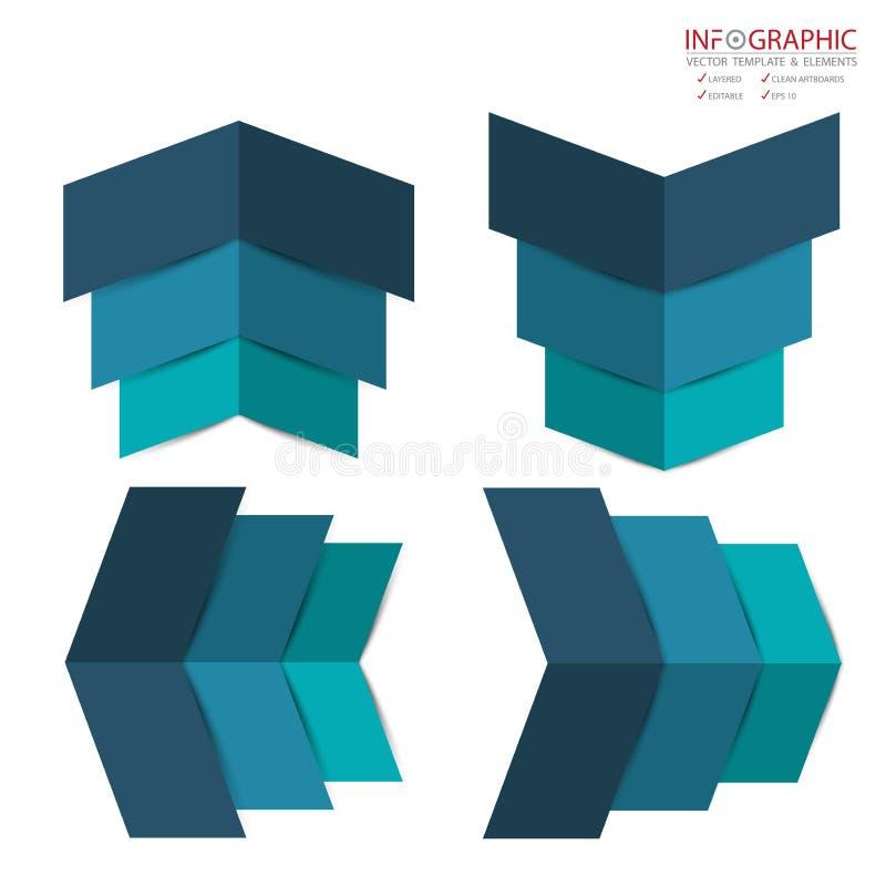 L'infographics abstrait d'élément de vecteur a placé l'option 3,4,5,6 Conception illustration stock