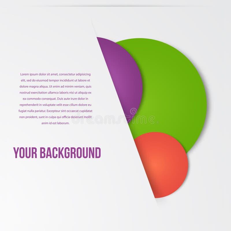 L'infographics de vecteur entoure le calibre Conception illustration de vecteur