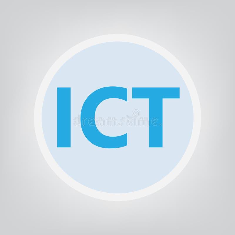 L'information des TCI et acronyme de technologie des communications illustration stock