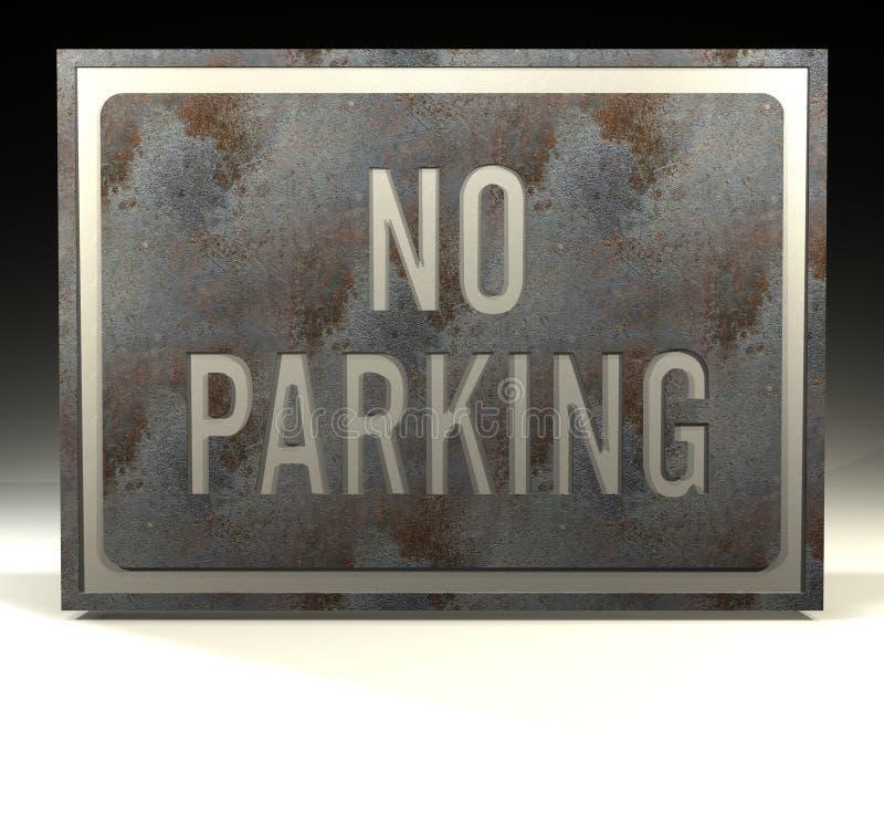 L'information ne signent aucun stationnement illustration de vecteur