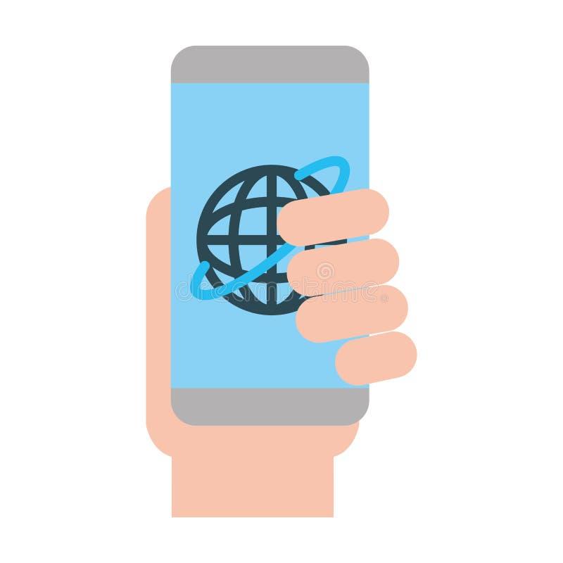 L'information technologique de connexion cellulaire illustration libre de droits
