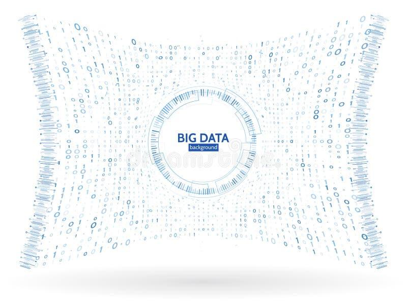 L'information visuelle de train de données de données Structure abstraite de connexion de code binaire Complexité futuriste de l' illustration libre de droits