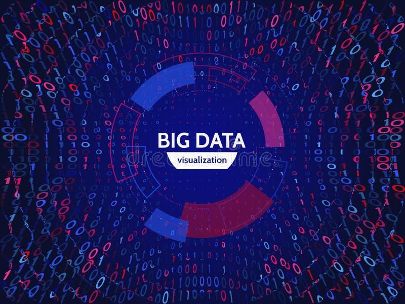 L'information visuelle de train de données de données Structure abstraite de connexion de données Complexité futuriste de l'infor illustration de vecteur