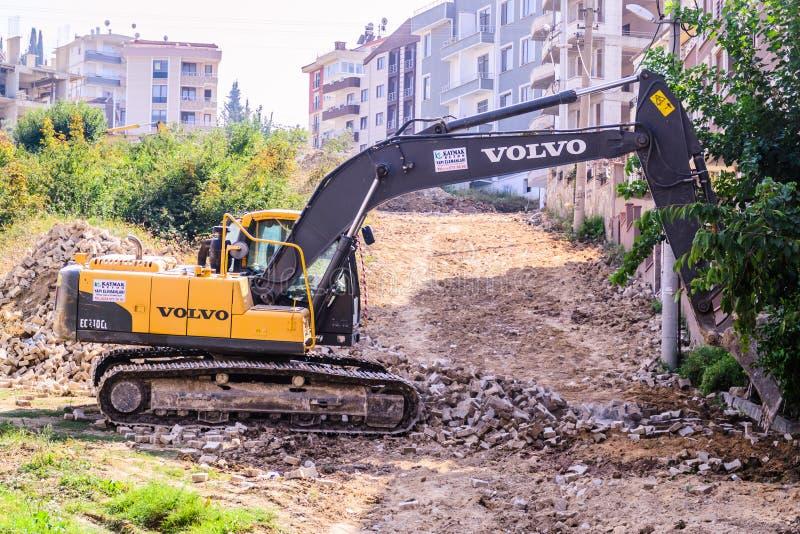 L'infrastruttura funziona in città turca fotografia stock