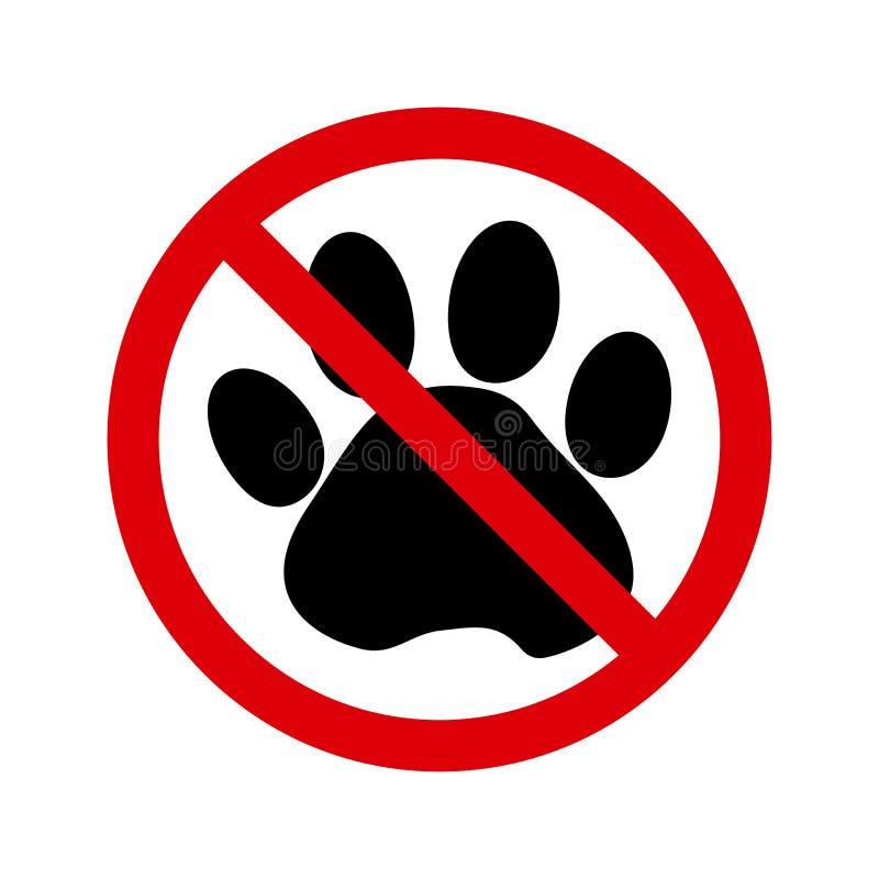 l5At inga husdjur tecknet vektor royaltyfri illustrationer
