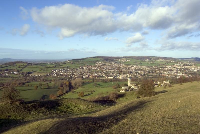 L'Inghilterra, Cotswolds, valli di Stroud fotografia stock libera da diritti