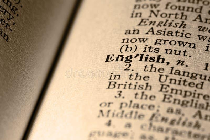 L'inglese di parola fotografia stock libera da diritti